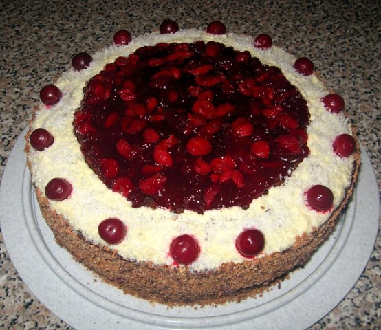 Торт с фото зимняя вишня