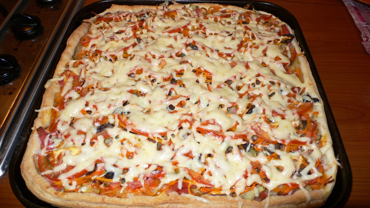 Как сделать слоеное для пиццы 994