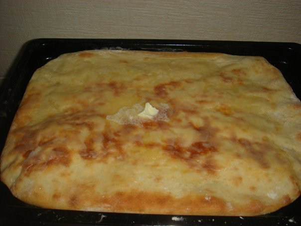 Осетинский пирог с сыром на сковороде