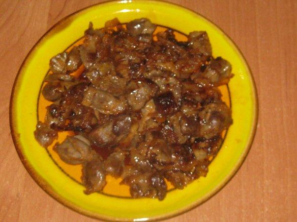 куриные желудочки рецепт с фото