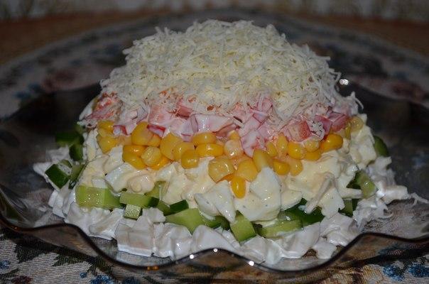 Вкусный салат с кальмаром рецепт