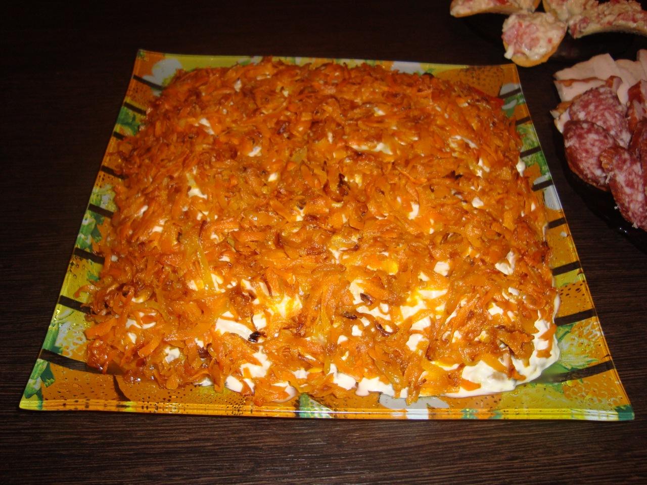 Салат лисичка под шубой рецепт 128