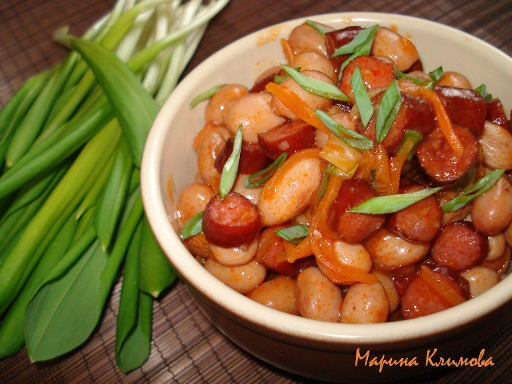 Рагу с колбасой рецепт с фото