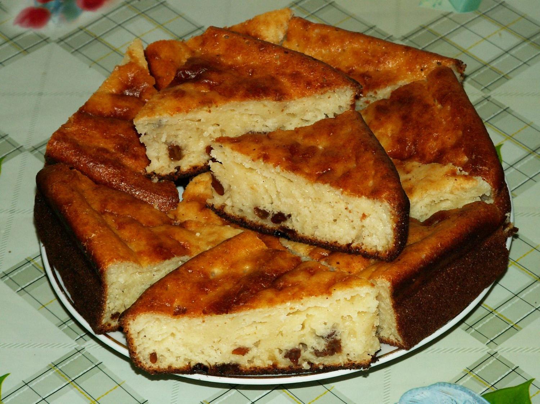 рецепт манника с творогом в духовке на кефире